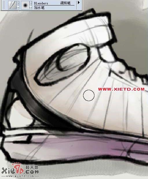 仿手绘素描运动鞋步骤图文说明 Corel Painter 教程 软件教程,CorelP