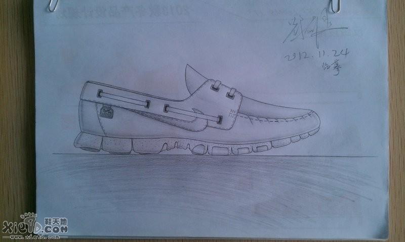 耐克休闲潮流鞋素描图稿   中帮篮球鞋马克笔图稿   耐克篮球鞋马克笔