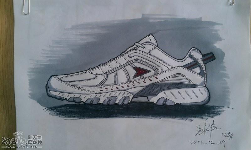 画鞋子素描图片-手绘菜鸟临摹八款 手绘作品 鞋天地