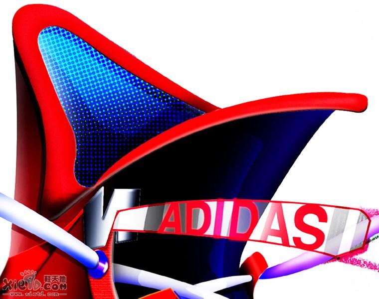 阿迪达斯运动鞋设计效果图