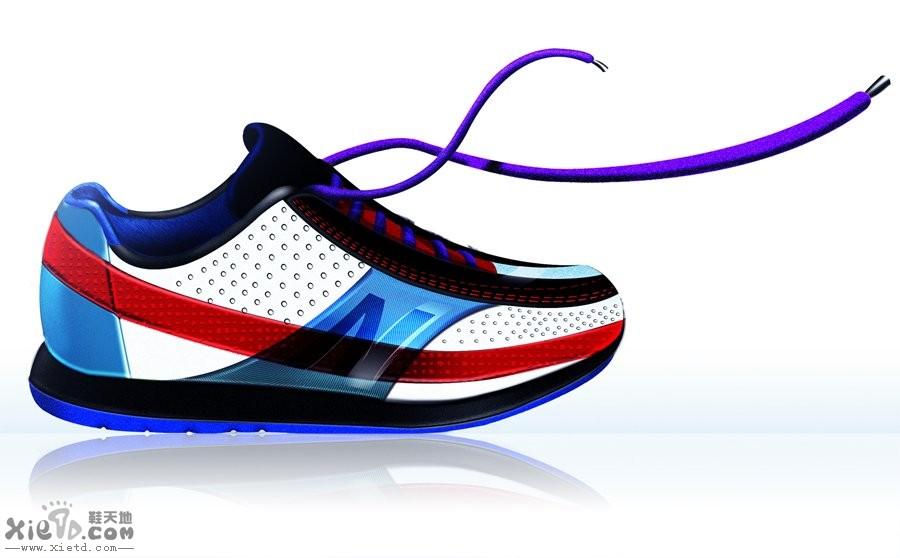 纽巴伦 休闲复古鞋设计效果图