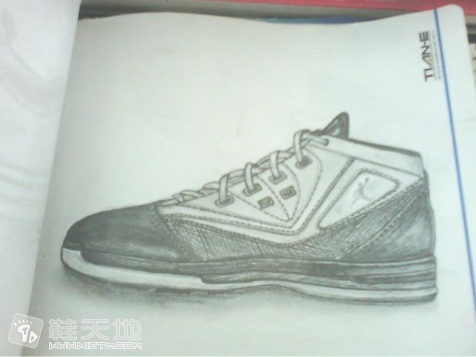 手绘临摹素描鞋图稿