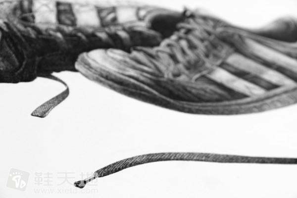 鞋类静物素描鞋作品