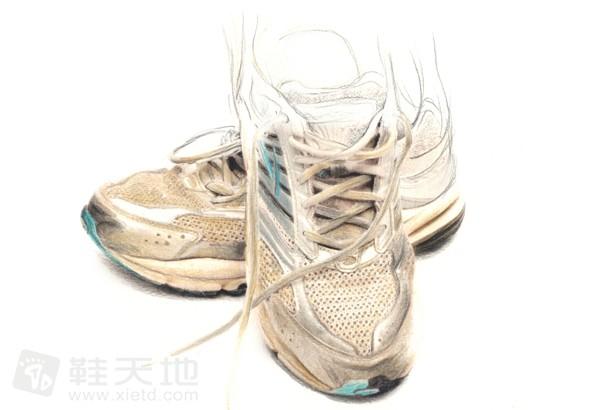彩铅素描鞋插画作品