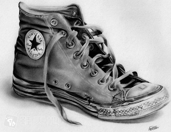 鞋类设计美学之素描 鞋类设计表现与画法图片
