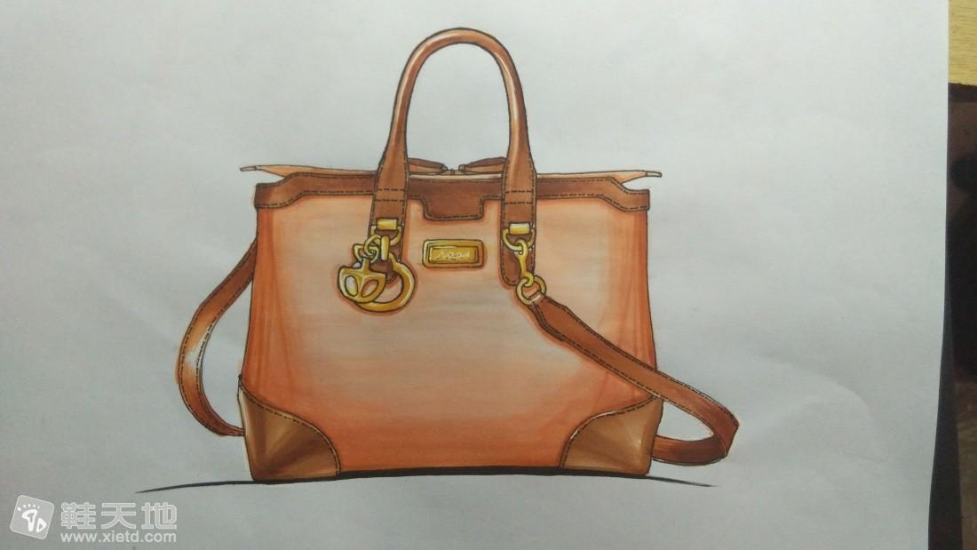 早期箱包設計2-馬克筆手繪(手提包;斜挎包)-手