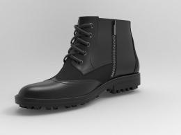 无花齿 矮靴3D设计