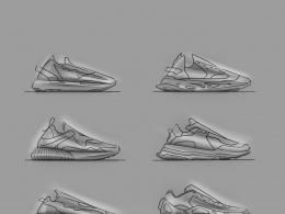 徒步鞋手稿 Trekking shoes doodle